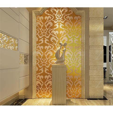 beautiful kitchen backsplash mosaic gold tiles tile design ideas 1547