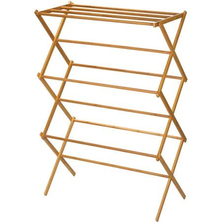 folding drying rack household essentials bamboo folding clothes drying rack