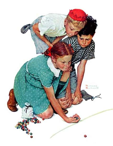 Knuckles Down By Norman Rockwell The Saturday Evening Post