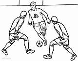 Football Coloring Pages Player Colouring Soccer Printable Sheets Sheet Sports Cool2bkids Players Playing Print Messi Subject Popular Favorite sketch template