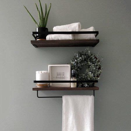 Install modern & space saving wall shelves to reduce bulk. 2Pack Wood Shelves, Wall Mounted Rustic Wood Wall Storage ...