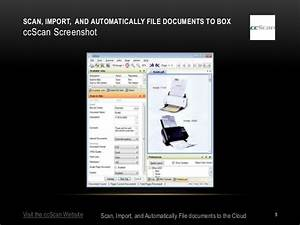 scan import and automatically file documents to box with With scanner that automatically filed documents