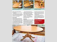 Oval Coffee table Plans • WoodArchivist