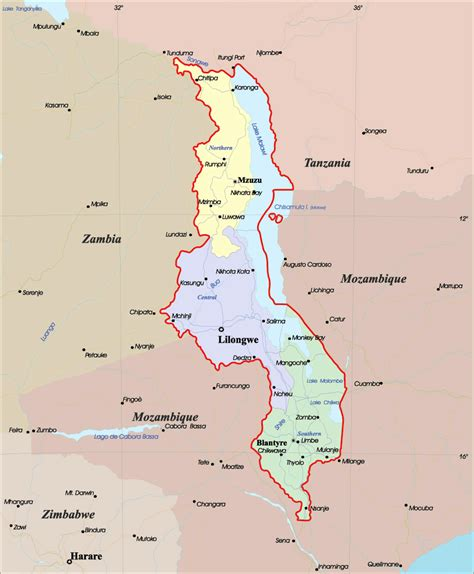 maps of malawi map library maps of the world