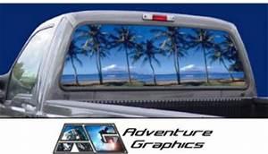 vehicle graphics rear window graphics paradise custom With custom rear window lettering
