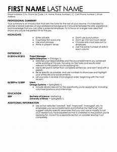 Entry level resume templates to impress any employer for Create new resume