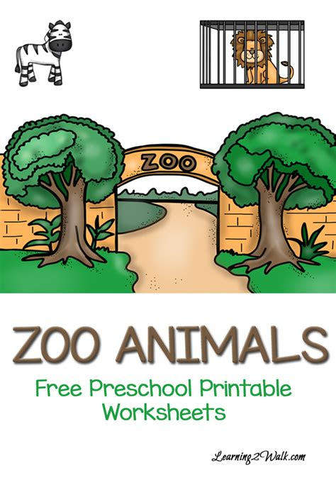 free zoo animals preschool printable worksheets free