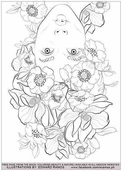 Coloring Nature Pages Stress Adults Anti Adult