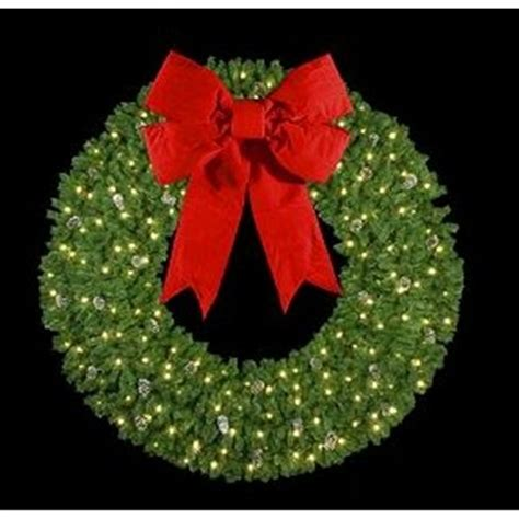 large lighted wreath lighted wreaths happy holidays