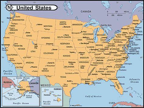 united states capitals  major cities map  mapscom