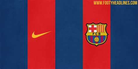 fc barcelona colors leaked barcelona 16 17 home kit colors design footy
