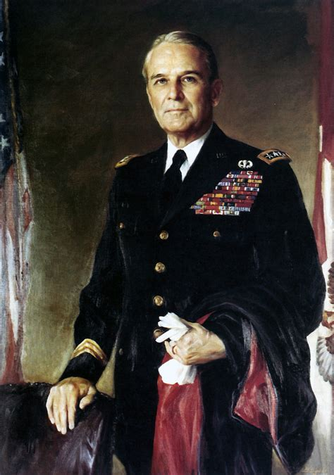 photo oil painting   army general maxwell taylor