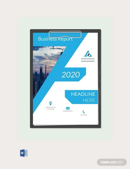 business report cover page template word templatenet