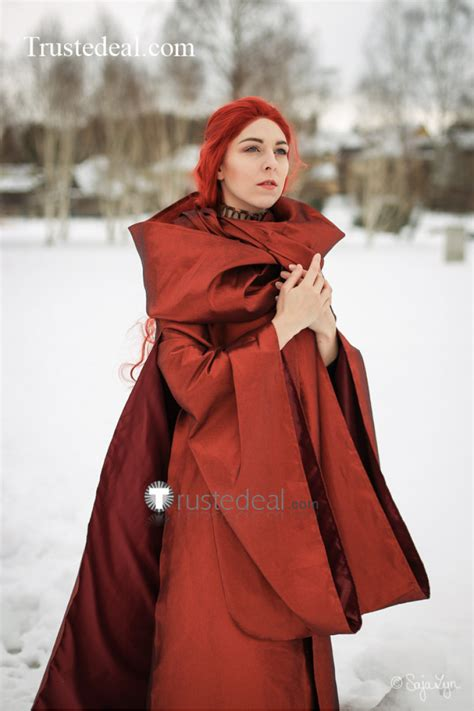 Game Of Thrones Priestess Melisandre Of Asshai Red Gown
