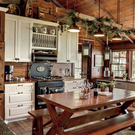 Log Cabin Kitchen Decorating Ideas by 25 Best Ideas About Rustic Cabin Kitchens On