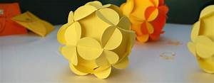 Kugel Trompetenbaum Schneiden Anleitung : bl tenkugel als tischdekoration aus papier plottern ~ Lizthompson.info Haus und Dekorationen
