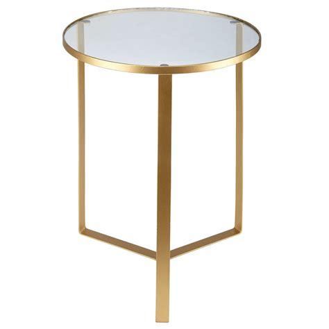 table d appoint maison du monde tavolino da divano in vetro e metallo dorato maisons du monde