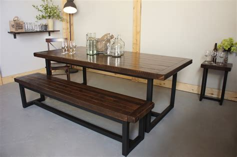 iron and wood dining table wood iron dining table in calgary alberta liken woodworks 7585