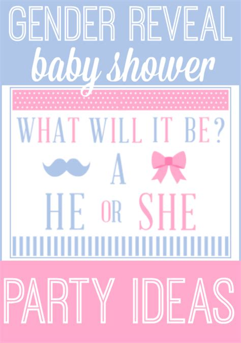 Baby Shower Gender Reveal by Gender Reveal Baby Shower Ideas Printables