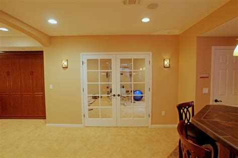West Denver French Door Exercise Room Entry in Basement
