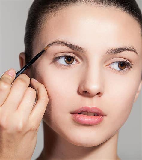 eyebrow shapes suit  face shape