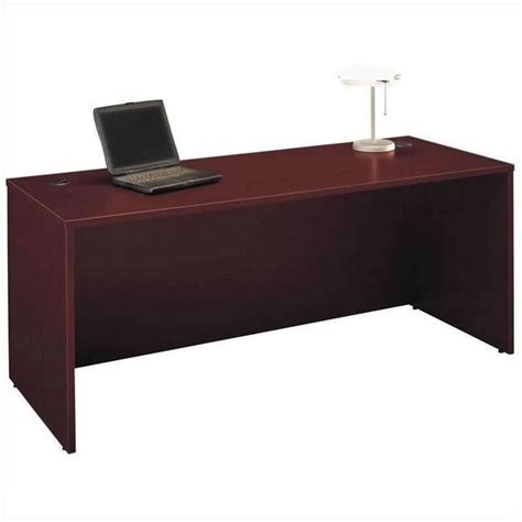 bush business series c mahogany desk and filing cabinets
