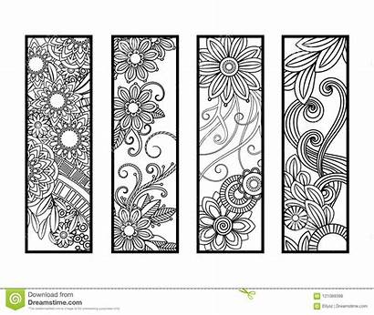 Segnalibri Coloring Bookmarks Mandala Messi Coloritura Eingestellt