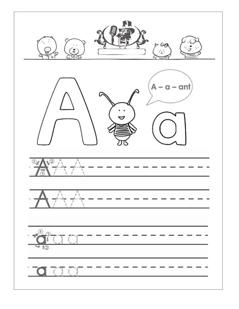the letter a worksheets for toddlers trace the letter a worksheets activity shelter