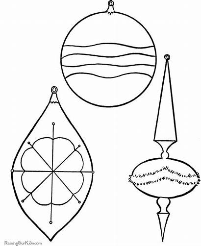Christmas Ornaments Ornament Coloring Pages Printable Patterns