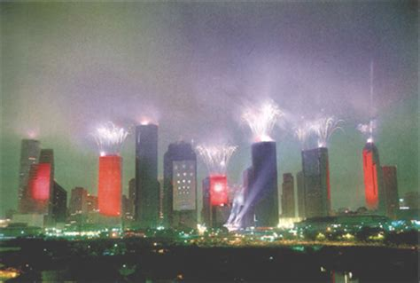 Light Show Houston by Jean Michel Jarre S Completely City Wide Laser