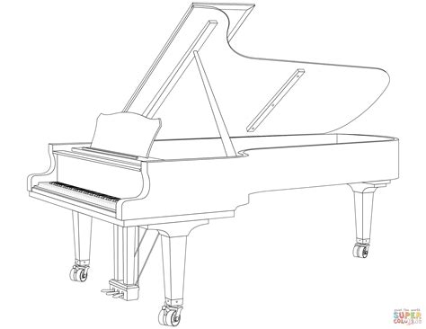 piano coloring pages grand piano page coloring pages
