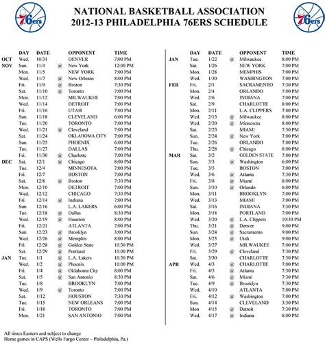 ers release schedule philly