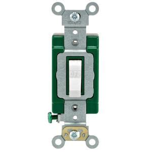 Leviton Amp Industrial Double Pole Switch White