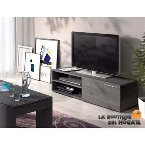 mueble tv  salon comedor modelo althea color gris