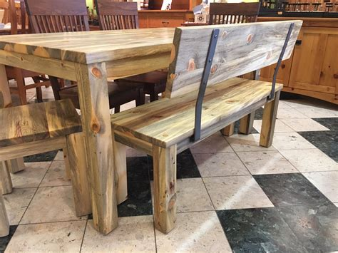 Interior Bench Ideas by Solid Beetlekill Quot Flatiron Quot Bench With Steel Uprights 48