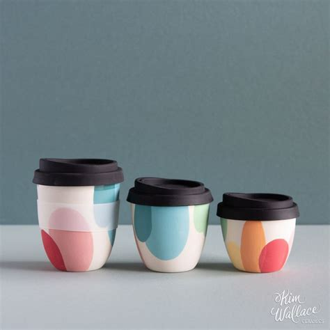 Reusable coffee cups come in a wide range of colors, sizes, and designs. Rainbow Reusable Takeaway Cups - available in sizes 12oz ...