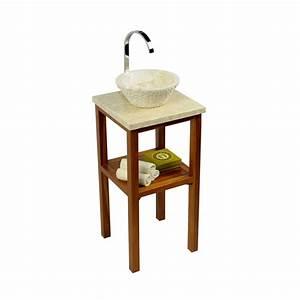 Waschtischplatte Holz Rustikal : teak holz waschtisch smini inkl marmorplatte creme 40x40x80cm bei wohnfreuden kaufen ~ Sanjose-hotels-ca.com Haus und Dekorationen