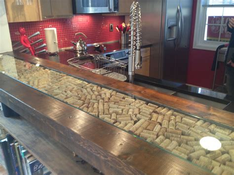 Bar Countertop by Bar Counter Top With Wine Cork Inlay Brewpub