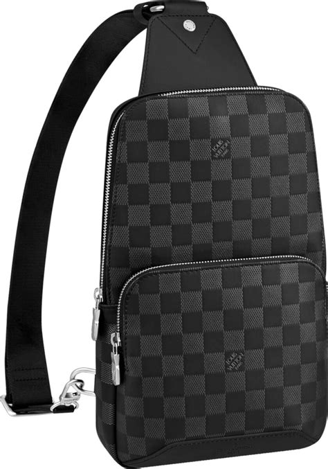 louis vuitton black check avenue sling bag incorporated style