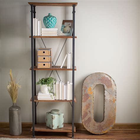 Industrial Style Bookcase by 4 Shelf Bookcase Vintage Industrial Style