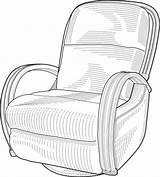 Lounge Sessel Clipart Clip Chair Grafik sketch template