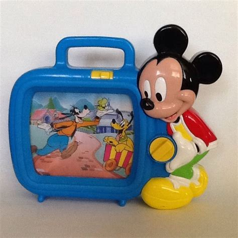 mickey mouse musical television tv scrolling wind up