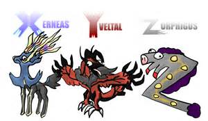 search pokemon x and y legendaries