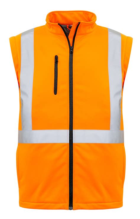 HiVis NSW Rail Safety Hivis 2 IN 1 'X' Back Soft Shell Jacket