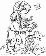 Coloring Flower Landscape sketch template