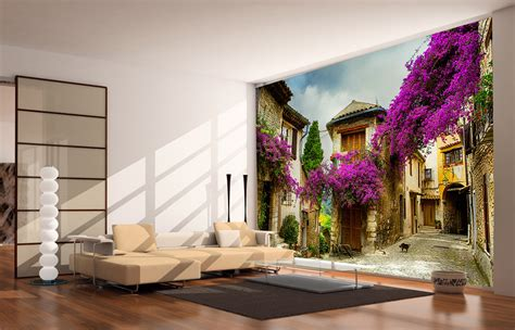 Wall Murals by Italian Bougainvillea Wall Mural And Removable Sticker