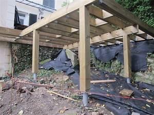 terrasse sur pilotis avec escalier et jacuzzi With jardin autour d une piscine 10 terrasse en bois sur poteaux avec escalier moissannes