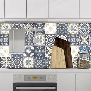 Stickers Carreaux De Ciment : 24 stickers carreaux de ciment ankara salle de bain et ~ Melissatoandfro.com Idées de Décoration