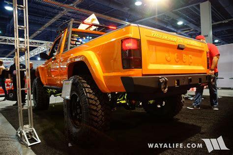 sema jcr offroad orange jeep comanche