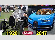 Evolution Of The Bugatti 1901 2017 YouTube